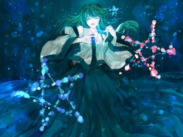 Tags: Anime, Minase Mmakina, Touhou, Kochiya Sanae, Danmaku, 2000x1500 Wallpaper, Fanart, Pixiv, Wallpaper, Sanae Kochiya