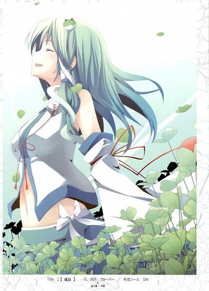 Tags: Anime, Akeboshi Kagayo, Flower (Artbook), Touhou, Kochiya Sanae, Mobile Wallpaper, Sanae Kochiya
