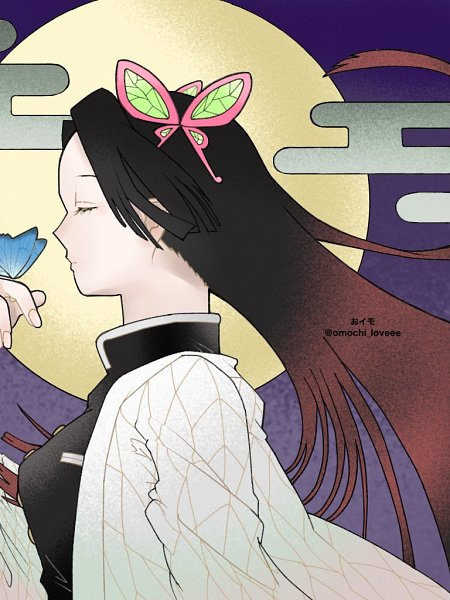 Tags: Anime, Oimo (Omochi-loveee), Kimetsu no Yaiba, Kochou Kanae, Fanart, Twitter