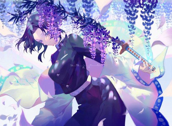 Tags: Anime, Yama Kawa, Kimetsu no Yaiba, Kochou Shinobu, Fanart From Pixiv, Pixiv, Fanart