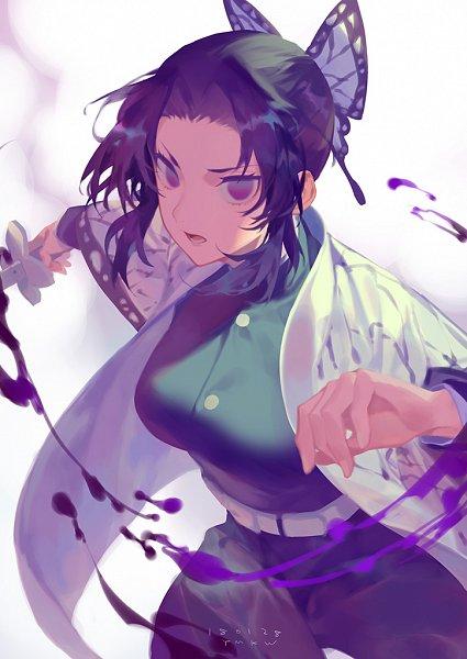 Tags: Anime, Yama Kawa, Kimetsu no Yaiba, Kochou Shinobu, Fanart, Pixiv