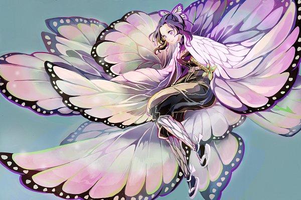 Tags: Anime, Te (Pixiv487236), Kimetsu no Yaiba, Kochou Shinobu, Fanart From Pixiv, Pixiv, Fanart
