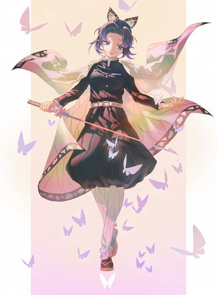 Tags: Anime, Pixiv Id 24867231, Kimetsu no Yaiba, Kochou Shinobu, Fanart From Pixiv, Pixiv, Fanart