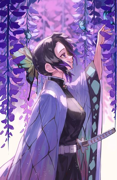 Tags: Anime, Vic, Kimetsu no Yaiba, Kochou Shinobu, Fanart From Pixiv, Pixiv, Fanart