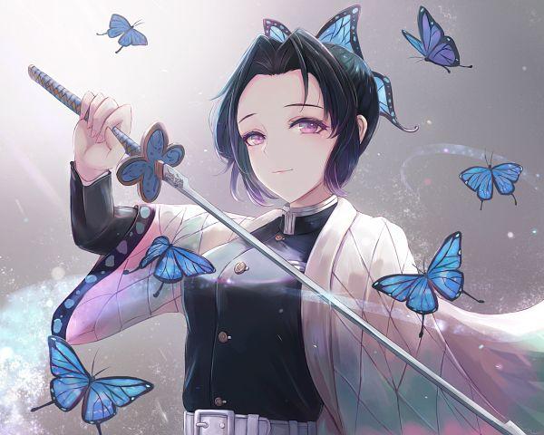 Tags: Anime, Leonmandala, Kimetsu no Yaiba, Kochou Shinobu, Wallpaper