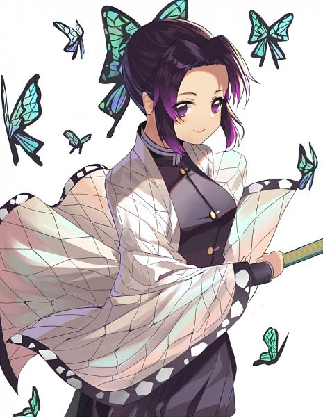 Tags: Anime, Pixiv Id 8384368, Kimetsu no Yaiba, Kochou Shinobu, Fanart From Pixiv, Pixiv, Fanart