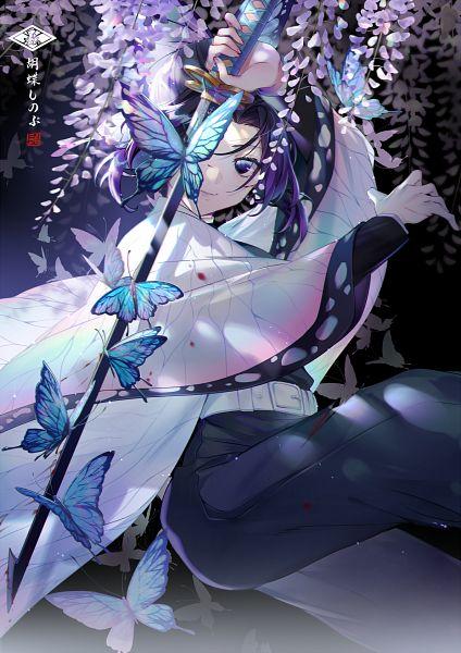 Tags: Anime, Ekita_Kuro, Kimetsu no Yaiba, Kochou Shinobu, Wisteria, Fanart, Revision, Fanart From Pixiv, Pixiv
