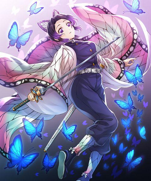 Tags: Anime, Ankoro, Kimetsu no Yaiba, Kochou Shinobu, Fanart From Pixiv, Pixiv, Fanart
