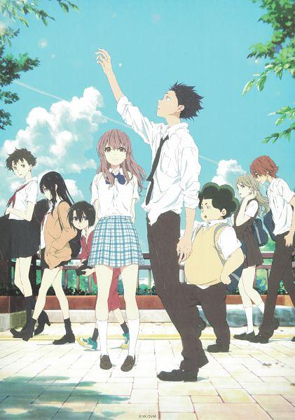 Tags: Anime, Kyoto Animation, Koe no Katachi, Nishimiya Yuzuru, Kawai Miki, Nishimiya Shouko, Ueno Naoka, Ishida Shouya, Nagatsuka Tomohiro, Sahara Miyoko, Mashiba Satoshi, Official Art