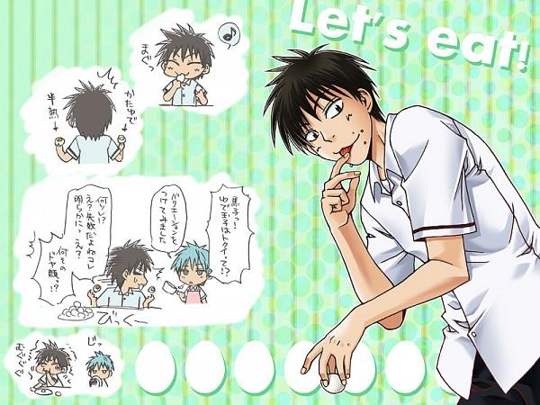Tags: Anime, Sakco Ffee, Kuroko no Basuke, Kuroko Tetsuya, Koganei Shinji, Licking Finger Tip, Fanart, Pixiv, Seirin High