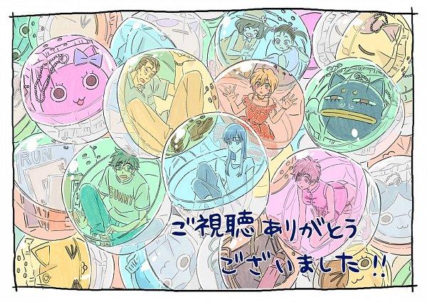 Tags: Anime, Koi wa Ameagari no You ni, Nishida Yui, Kyan Haruka, Kondou Masami, Tachibana Akira, Key Chains, Transparent Object, In a Box, Prisoner, Fanart, Twitter