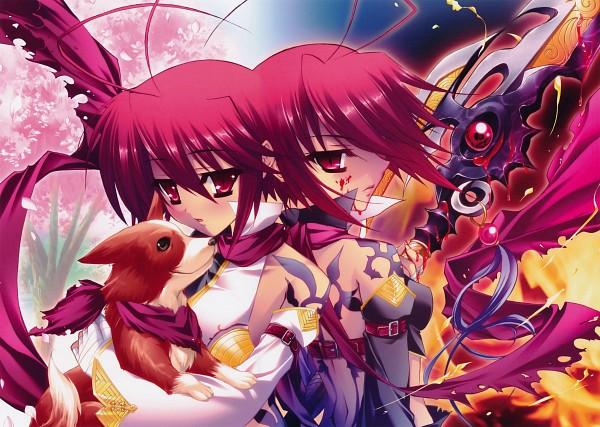 Tags: Anime, Katagiri Hinata, BaseSon, Koihime†Musou, Housen Ryofu (Koihime Musou), Corgi, Scan, Official Art, Love Princess Unmatched