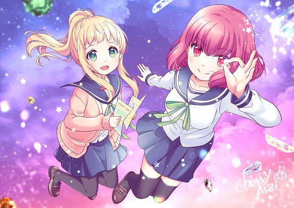 Tags: Anime, Arai Cherry, Koisuru Asteroid, Sakurai Mikage, Inose Mai, Countdown Illustration