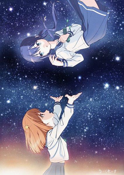 Tags: Anime, Pixiv Id 34663926, Koisuru Asteroid, Manaka Ao, Konohata Mira