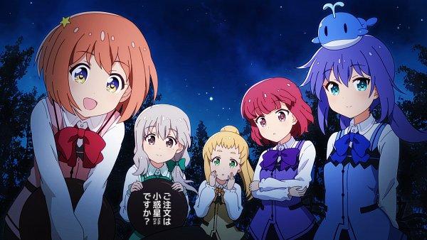 Tags: Anime, Shirosato, Koisuru Asteroid, Konohata Mira, Morino Mari, Sakurai Mikage, Inose Mai, Manaka Ao, Gochuumon wa Usagi desu ka (Cosplay)