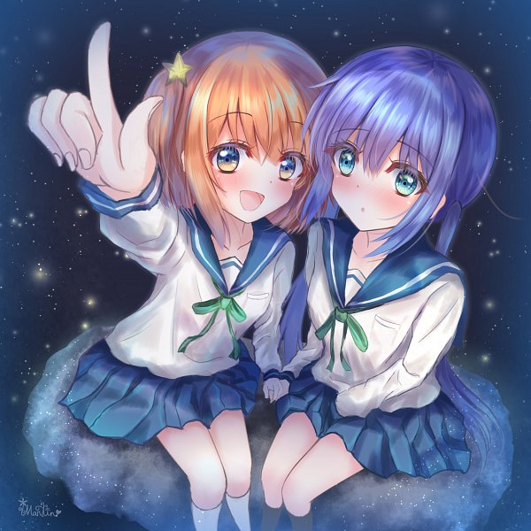 Tags: Anime, Pixiv Id 9060732, Koisuru Asteroid, Konohata Mira, Manaka Ao