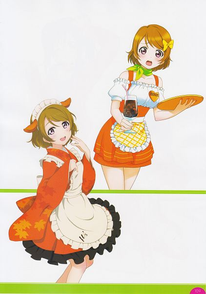 Tags: Anime, Sunrise (Studio), KLab, Love Live!, Love Live! School Idol Festival Official Illustration Book, Love Live! School Idol Festival, Koizumi Hanayo, Wa Lolita, Scan, Mobile Wallpaper, Official Art