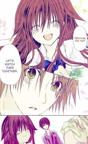Tags: Anime, Tooyama Ema, Koko ni Iru yo!, Sumino Hikage, Mikami Teru (Koko Ni Iru Yo!), Mutou Hinata, Mobile Wallpaper