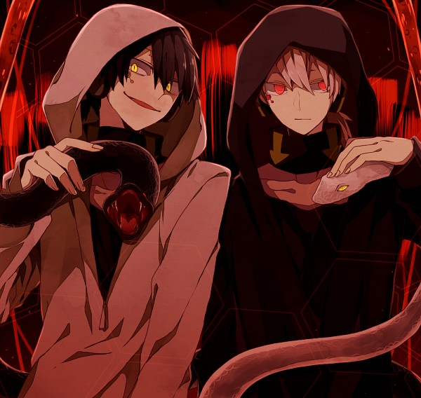 "Tags: Anime, Junjam, Kagerou Project, Dark Konoha, Kokonose ""Konoha"" Haruka, Pixiv, Fanart"