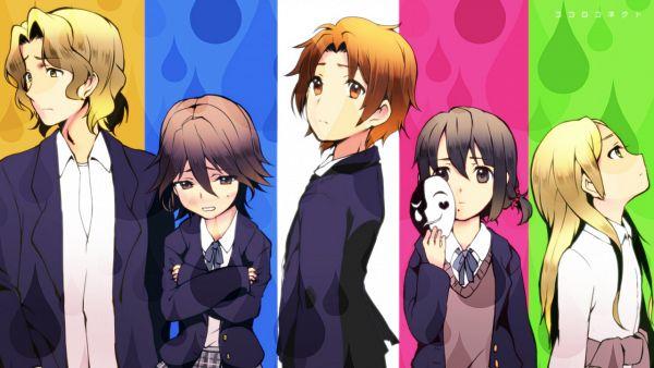 Tags: Anime, Pixiv Id 35908, Kokoro Connect, Aoki Yoshifumi, Kiriyama Yui, Inaba Himeko, Nagase Iori, Yaegashi Taichi, Wallpaper