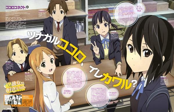 Tags: Anime, Akai Toshifumi, Silver Link, Kokoro Connect, Aoki Yoshifumi, Kiriyama Yui, Inaba Himeko, Nagase Iori, Yaegashi Taichi, Scan, Official Art, Newtype Magazine (Source), Magazine (Source)