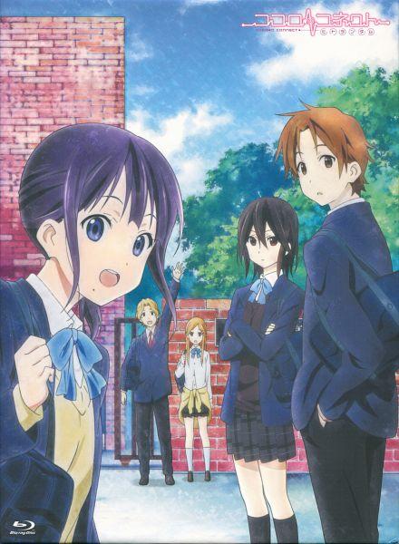 Tags: Anime, Silver Link, Kokoro Connect, Nagase Iori, Yaegashi Taichi, Aoki Yoshifumi, Kiriyama Yui, Inaba Himeko, DVD (Source), Official Art, Scan