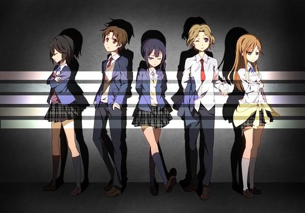 Tags: Anime, Go Sai (475789336), Kokoro Connect, Kiriyama Yui, Inaba Himeko, Nagase Iori, Yaegashi Taichi, Aoki Yoshifumi