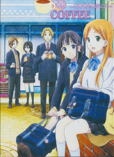 Tags: Anime, Horiguchi Yukiko, Kokoro Connect, Aoki Yoshifumi, Kiriyama Yui, Inaba Himeko, Nagase Iori, Yaegashi Taichi, Official Art, Scan