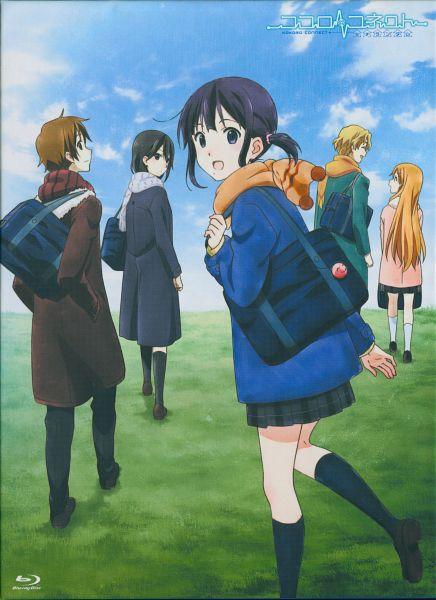Tags: Anime, Horiguchi Yukiko, Kokoro Connect, Inaba Himeko, Nagase Iori, Yaegashi Taichi, Aoki Yoshifumi, Kiriyama Yui, Scan, Mobile Wallpaper, DVD (Source), Official Art