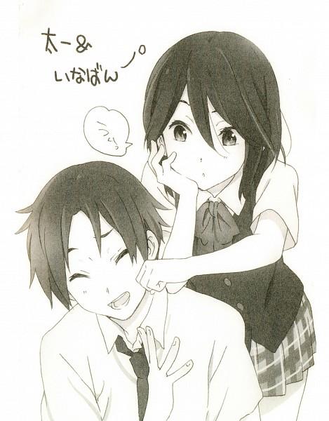 Tags: Anime, Horiguchi Yukiko, Kokoro Connect, Inaba Himeko, Yaegashi Taichi, Novel Illustration, Official Art