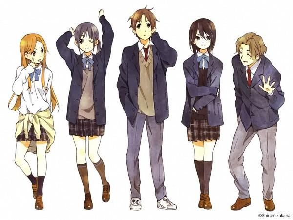 Tags: Anime, Horiguchi Yukiko, Kokoro Connect, Inaba Himeko, Nagase Iori, Yaegashi Taichi, Aoki Yoshifumi, Kiriyama Yui, Official Art