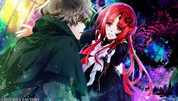 Tags: Anime, Yuiga Satoru, Otomate, IDEA FACTORY, Kokuchou no Psychedelica, Beniyuri, Kagiha (Kokuchou no Psychedelica), CG Art, Official Art, Psychedelica Of The Black Butterfly
