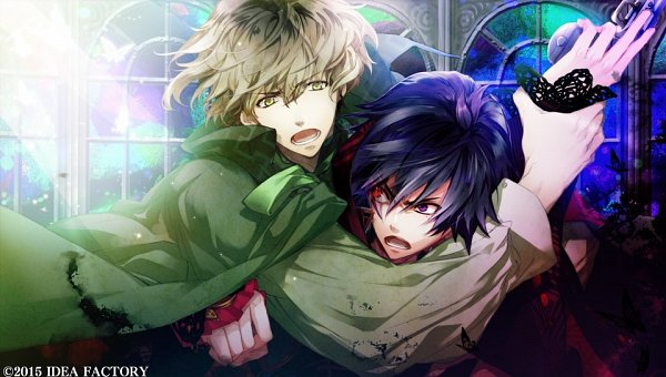 Tags: Anime, Yuiga Satoru, IDEA FACTORY, Otomate, Kokuchou no Psychedelica, Hikage (Kokuchou no Psychedelica), Kagiha (Kokuchou no Psychedelica), CG Art, Official Art, Psychedelica Of The Black Butterfly