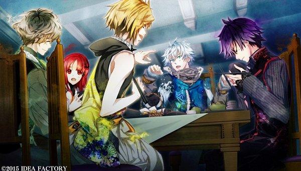 Tags: Anime, Yuiga Satoru, IDEA FACTORY, Otomate, Kokuchou no Psychedelica, Beniyuri, Yamato (Kokuchou no Psychedelica), Hikage (Kokuchou no Psychedelica), Kagiha (Kokuchou no Psychedelica), Karasuba (Kokuchou no Psychedelica), Official Art, CG Art, Psychedelica Of The Black Butterfly