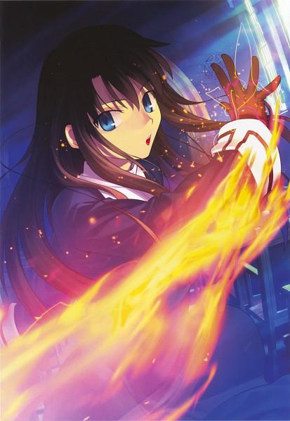 Tags: Anime, Takeuchi Takashi, TYPE-MOON, Kara no Kyoukai, catalogue, Kokuto Azaka, Mobile Wallpaper, Scan, Official Art