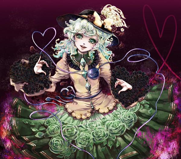 Tags: Anime, Takatora, Touhou, Komeiji Koishi, Green Flower, Heart Print, Pixiv, Fanart From Pixiv, Fanart, Koishi Komeiji