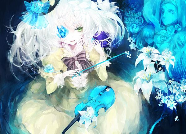 Tags: Anime, Moemoe3345, Touhou, Komeiji Koishi, Brambles, Eye Flower, Colored Eyelashes, Pixiv, Fanart, Fanart From Pixiv, PNG Conversion, Koishi Komeiji
