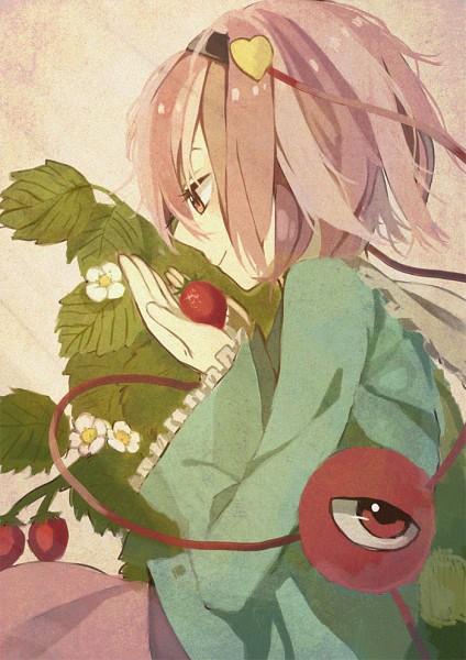 Tags: Anime, Hantsuki (Artist), Touhou, Komeiji Satori, Berry, Fanart, Pixiv, Fanart From Pixiv, Satori Komeiji
