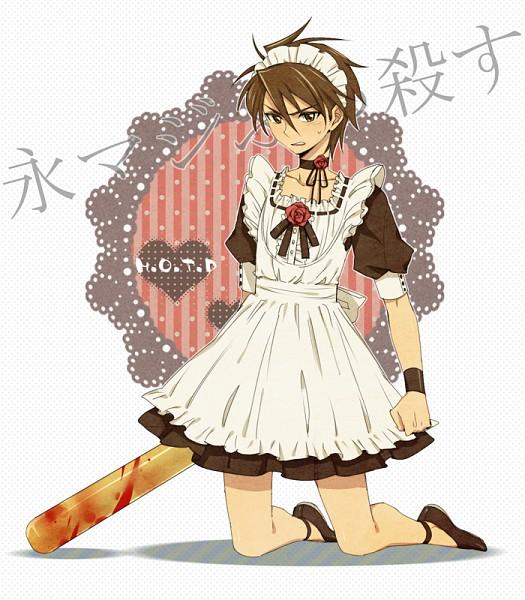Tags: Anime, Ar (Rikuesuto), Gakuen Mokushiroku: HIGHSCHOOL OF THE DEAD, Komuro Takashi, Baseball, Pixiv