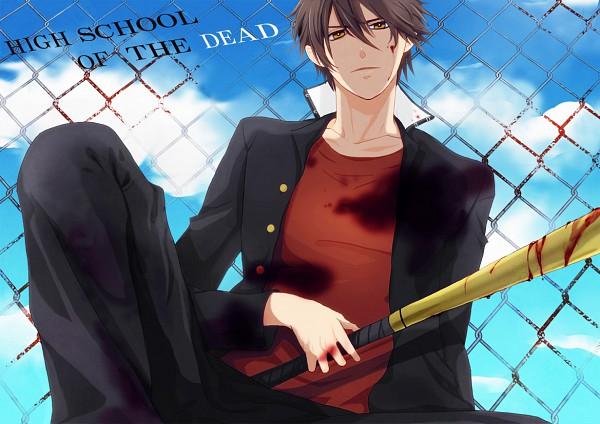 Tags: Anime, Novue, Gakuen Mokushiroku: HIGHSCHOOL OF THE DEAD, Komuro Takashi, Baseball, Pixiv