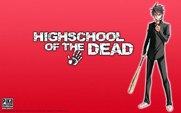 Tags: Anime, Satou Shouji, Gakuen Mokushiroku: HIGHSCHOOL OF THE DEAD, Komuro Takashi