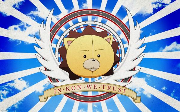 Tags: Anime, BLEACH, Kon (BLEACH), Rising Sun Motif, Stuffed Lion, Wallpaper