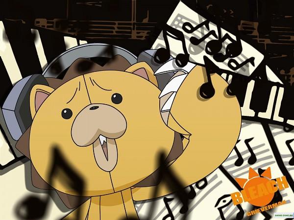 Tags: Anime, BLEACH, Kon (BLEACH), Stuffed Lion, Wallpaper