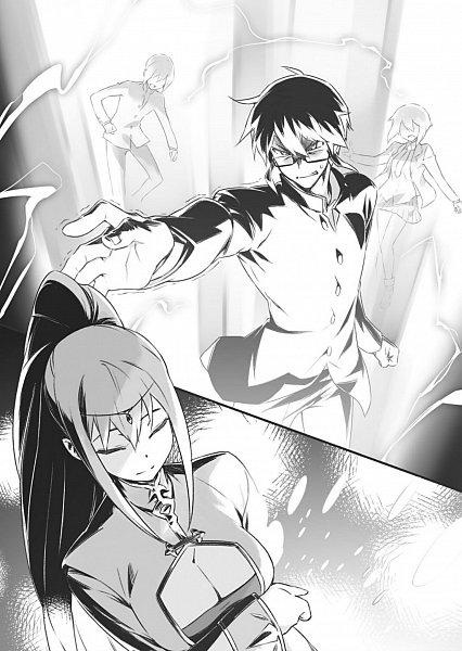 Tags: Anime, Sumaki Shungo, Konjiki no Word Master, Okamura Hiiro, Character Request, Novel Illustration, Official Art