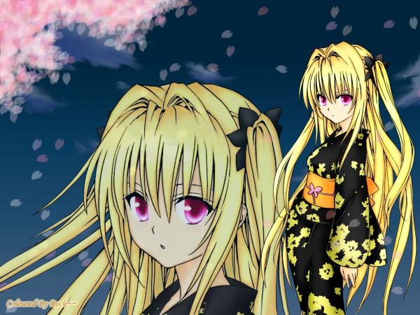 Tags: Anime, To LOVE-Ru, Konjiki no Yami, Fanmade Wallpaper, Wallpaper, Edited, Self Made