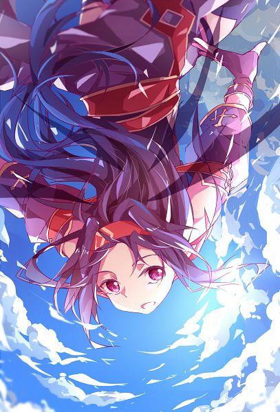 Tags: Anime, Nishigyou Teraa, Sword Art Online, Konno Yuuki, Purple Handwear, Fanart, Fanart From Pixiv, Mobile Wallpaper, Pixiv