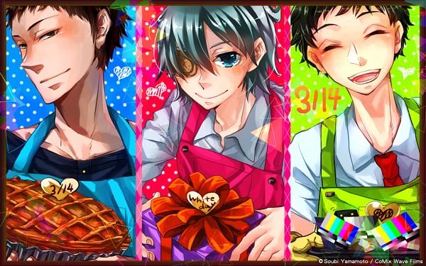 Tags: Anime, Yamamoto Soubi, Kono Danshi Uchuujin to Tatakaemasu, Kakashi, Shiro (Kono Danshi Uchuujin To Tatakaemasu), Arikawa, PNG Conversion, Official Art, This Boy Can Fight Aliens.