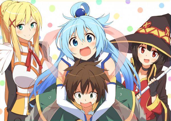Tags: Anime, Pixiv Id 5276533, Kono Subarashii Sekai ni Shukufuku wo!, Lalatina Dustiness Ford, Satou Kazuma, Aqua (KonoSuba), Megumin