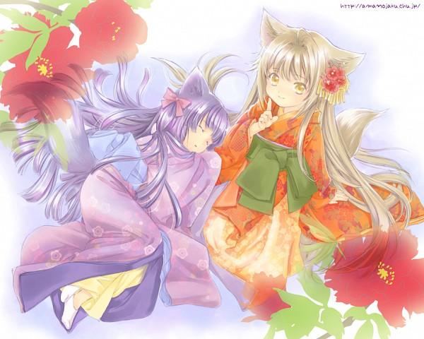 Tags: Anime, Amano Sakuya, Konohana Kitan, Yuzu (Konohana Kitan), Sakura (Konohana Kitan), Pixiv