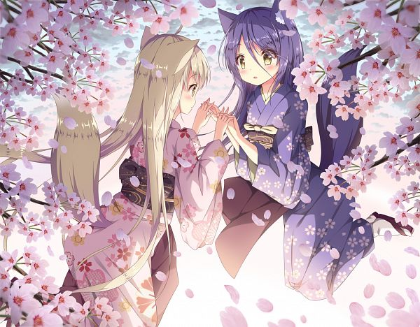 Tags: Anime, Pixiv Id 7550113, Konohana Kitan, Yuzu (Konohana Kitan), Satsuki (Konohana Kitan)